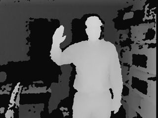 Depth image from Kinect
